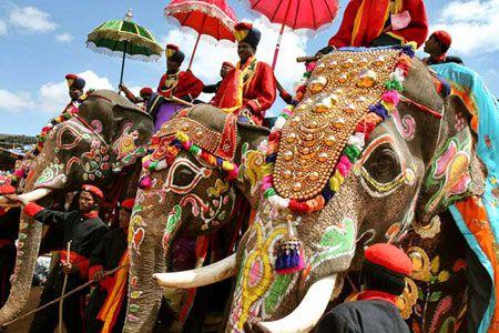 боевые слоны в Индии