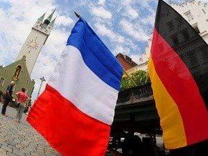 французский и немецкий флаги