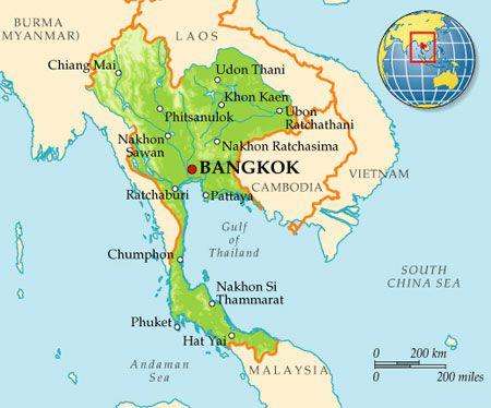 границы Тайланда