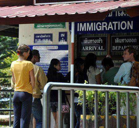 иммиграционный пункт в Тайланде