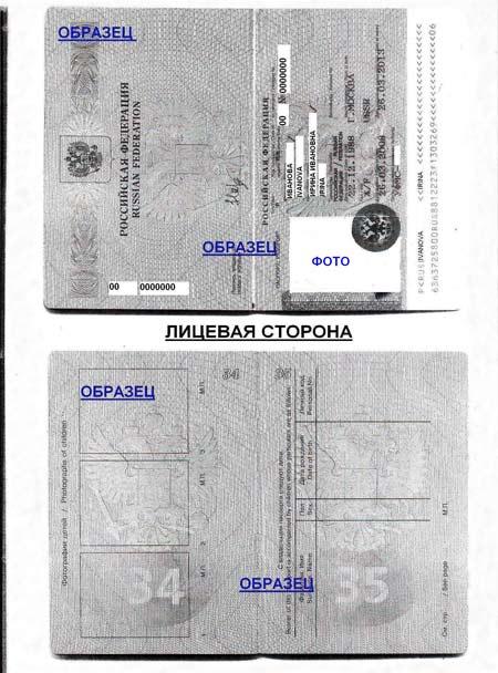 Копия страниц заграничного паспорта