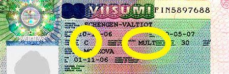 Мнгократная виза категории С