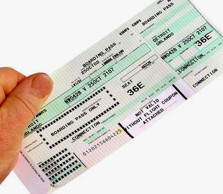 оплаченный билеты на самолет
