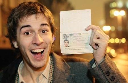 готовая виза в паспорте