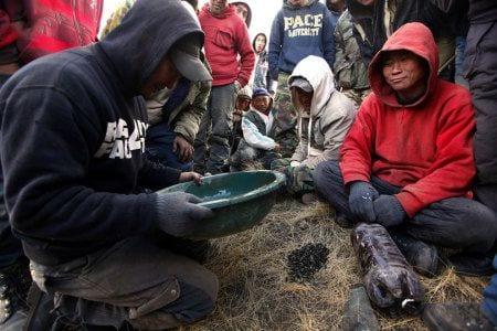рабочие в монголии