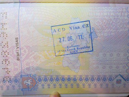 Штамп в визу