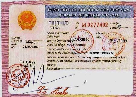 трехмесячная мультивиза во Вьетнам