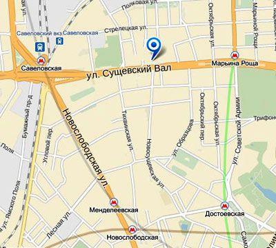 карта визового центра Болгарии в Москве