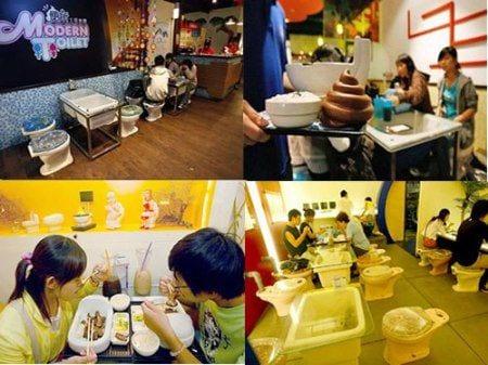 японцы в кафе
