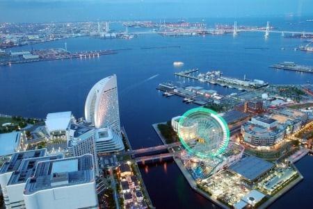 город Йокогама в Японии