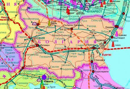 карта южного потока