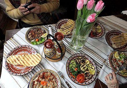 застолье в Болгарии