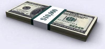 десять тысяч долларов