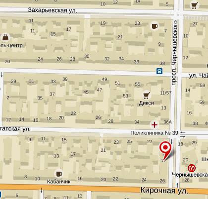 карта расположения петербургского филиала