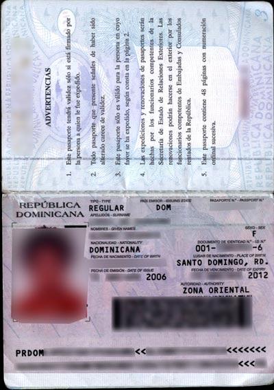 заграничный паспорт доминиканы