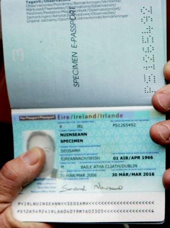 паспорт гражданина Ирландии