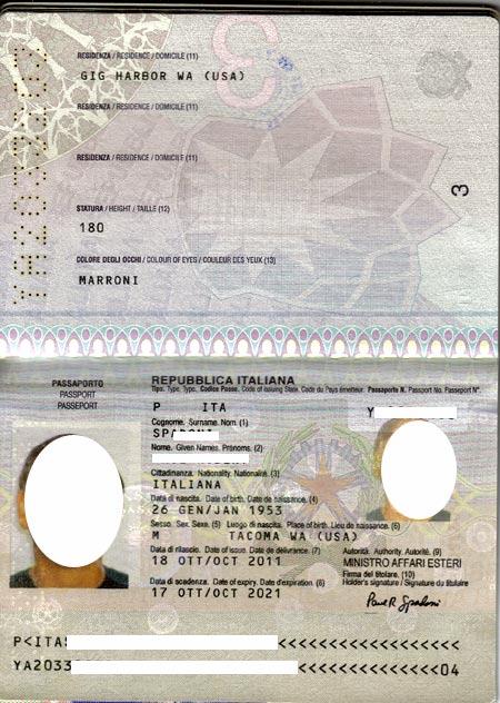Итальянский паспорт