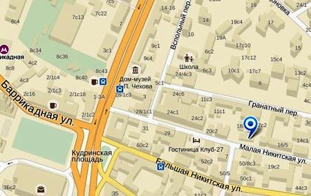 карта посольства Лаоса в Москве
