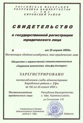 документы о частном предприятии