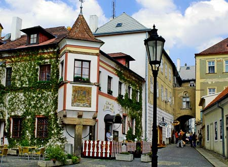 Типичная улица в провинциальной Чехии