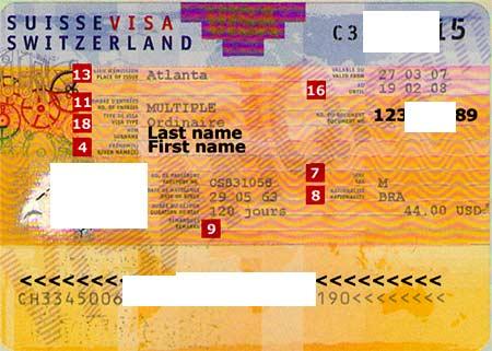 виза Швейцарии