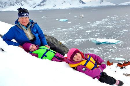 дети в Антарктиде