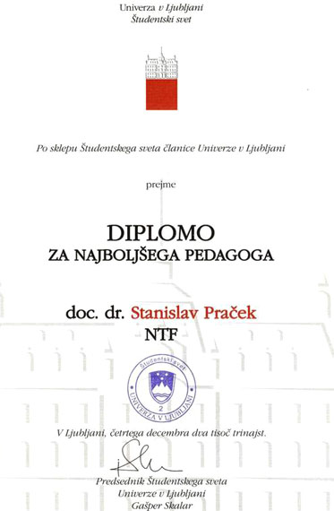 диплом Словенского университета