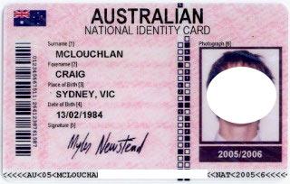 австралийское удостоверение