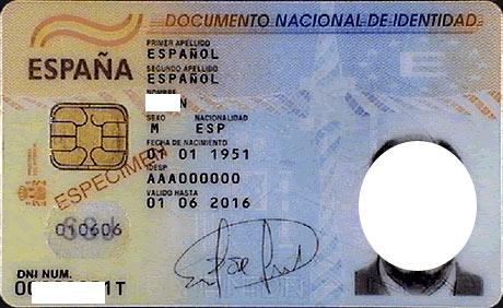 испанское удостоверение