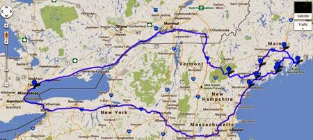 маршрут путешествия по США
