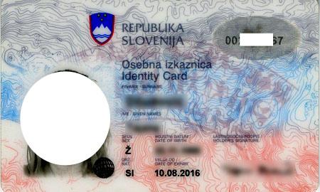 национальный словенский паспорт