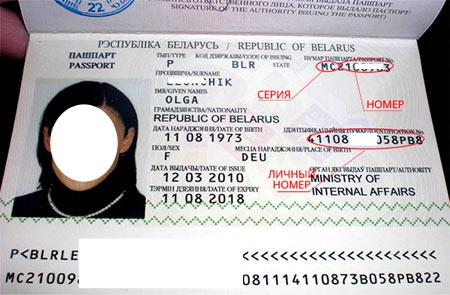 паспорт гражданина Белоруссии