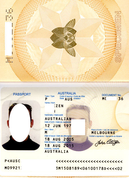 Паспорт австралийца