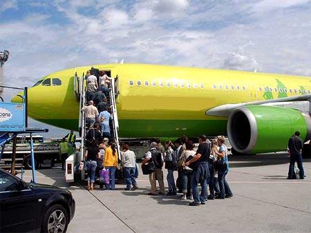 посадка на самолет