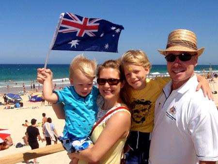 австралийская семья