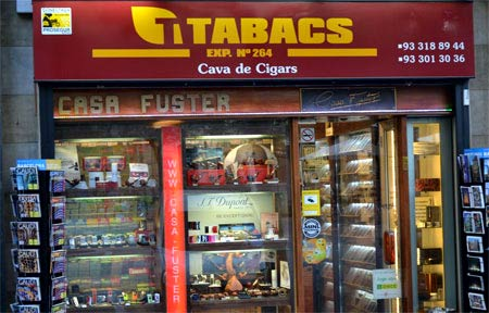 сигаретный магазин в Испании