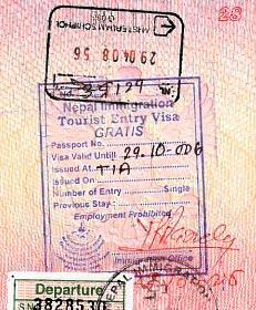 непал транзитная виза