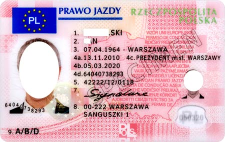 водительское удостоверение в Европе