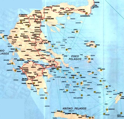 аэропорты в Греции
