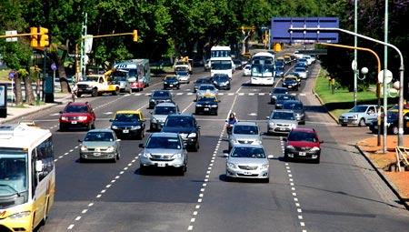 дорожное движение в Аргентине
