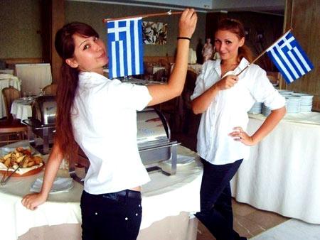работа в ресторане в Греции
