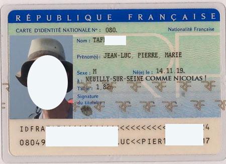 удостоверение француза