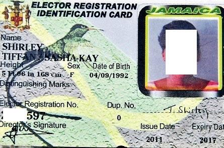 ямайское удостоверение