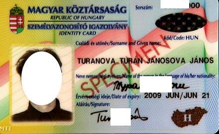 венгерское удостоверение личности
