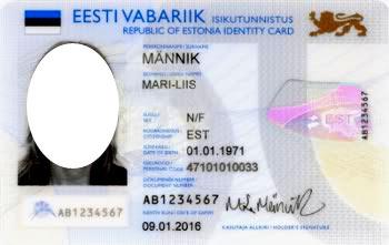 эстонский id-card