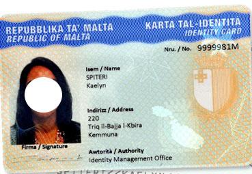 мальтийская идентификационная карточка
