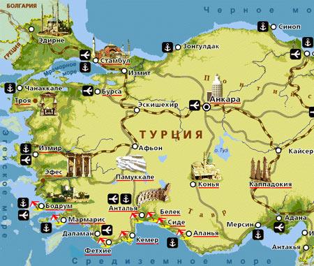 карта курортов