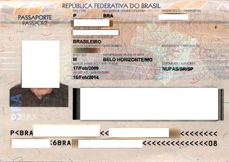 паспорт бразильца