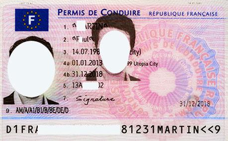 водительское удостоверение во Франции