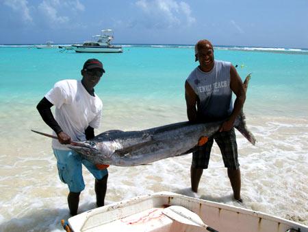 рыбалка на Барбадосе